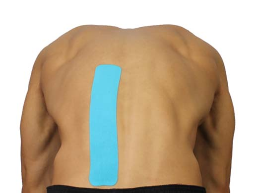 SportsTex Lower back kinesiology Tape Application