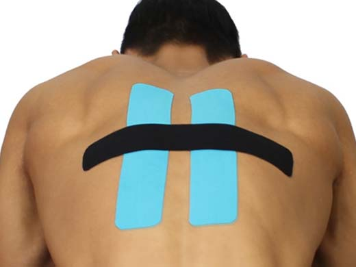 SportsTex Middle back kinesiology Tape Application